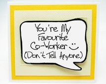Funny Co-Worker Card. Co-Worker Gift Card. Magnet Card for Friends. MN194