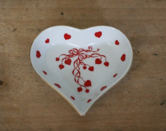 vintage lefton heart dish