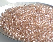 Pink Rosaline Silver Lined FROSTED TOHO Round 11/0 Japanese Seed Beads Rosaline Pink Frosted 15 grams T325-11