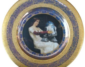 """R2-D2 Renaissance Portrait Plate  - Altered Antique Plate 11"""""""