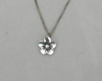 Silver or Gunmetal Flower Necklace