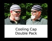 Mens Cotton Cooling Cap Double Pack: Big Band Stripes In Black, Armor Gray and Light Gray