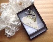 new sister in law green ceramic heart gift card wedding favour