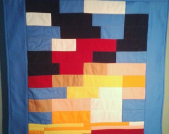 Patchwork Sunset Wall Hanging