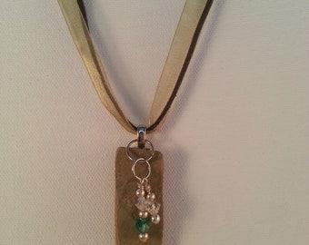 sandstone pendant necklace