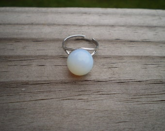 Opalite Sphere Adjustable Ring