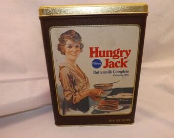 Vintage  Pillsbury Hungry Jack Pancake Mix  Tin