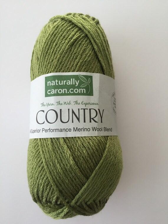 Naturally Caron Country Yarn In Foliage Green Merino By