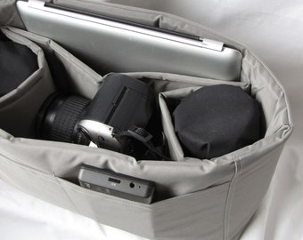 PreOrder Silver Camera Bag Insert in Silver - 2 Lens Style Porter I - Choose Size