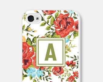 iPhone 6 Case Floral - Floral iPhone 6 Case - Floral iPhone 5 Case Monogram Floral iPhone 5s Case Floral iPhone 5c Case Monogram iPhone Case