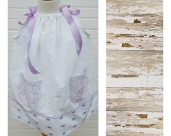 Girls Dress Sundress Pillowcase Dress Beach Dress Summer Dress Vintage Dress 3T dress (Ant904) Flower Girl Dress FREE CLIP