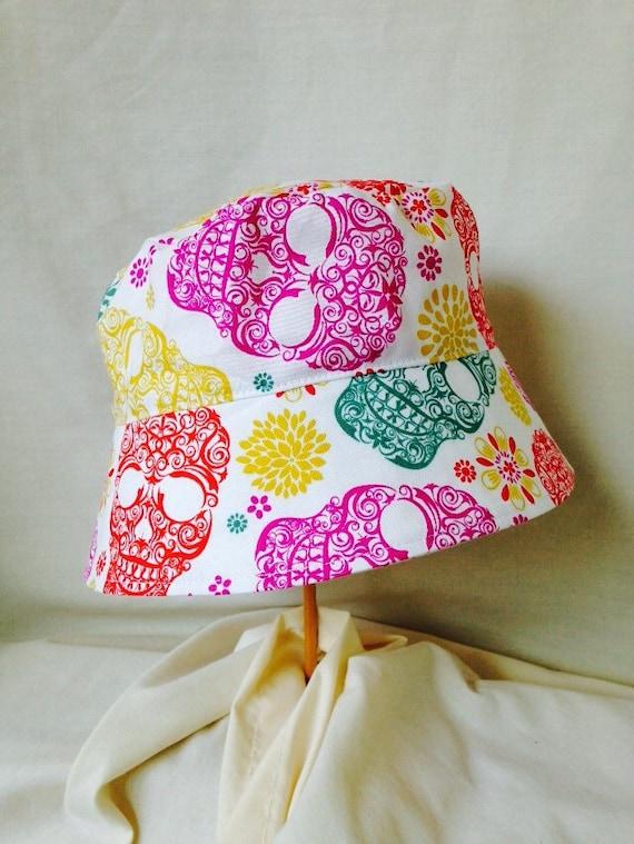 BUCKET HAT, Sun Hat, Scull Hat, Bright Sculls, Toddler Sun Hat, Girls Sun Hat, Novelty Sun Hat, Play School Hat, Fun Sun Hat, Beach Hat