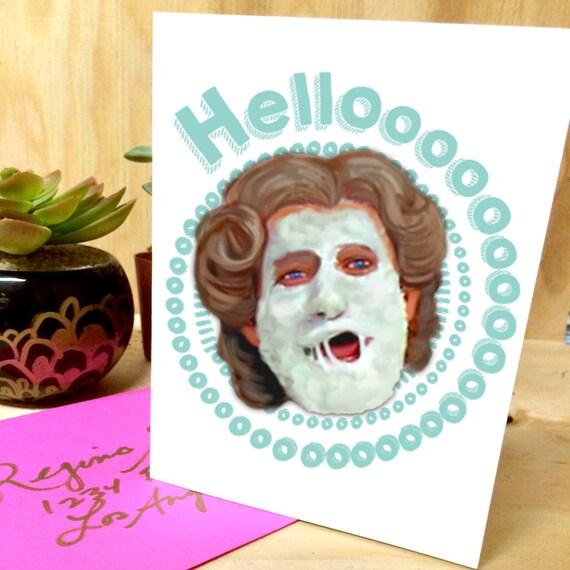 Mrs. Doubtfire Robin Williams Hello Greeting Card birthday