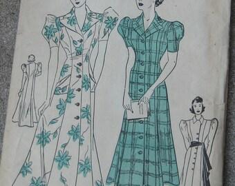 Wow Never Used  Advance Dress Pattern 1 Pattern 2 Looks 1930s Dress Size 16 Bust 34 Hip 37