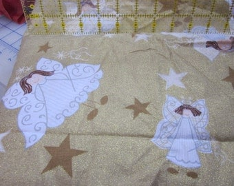 almost two yards of fabric destash quilting angel fabric