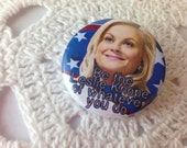 Leslie Knope Button 1.25 inch