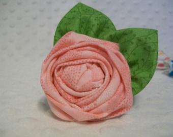 Rolled Flower Hair Clip