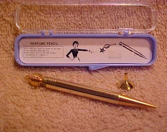 Vintage 1950's Goldtone Perfume Pencil