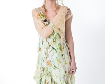 Lady of the Swamp Dress and Hair Piece  Boho Cinderella Style