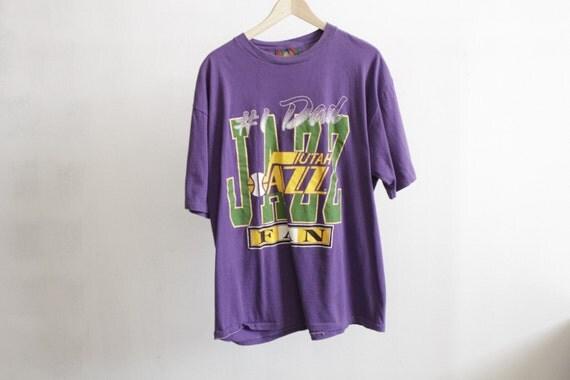 Vintage Utah Jazz Karl Malone John Stockton Nba T Shirt