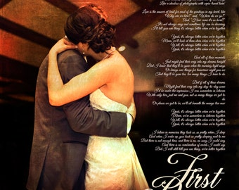 Personalized Wedding Gift wedding shower gift wedding day gift wedding anniversary gift Your Photo with Lyrics to your song