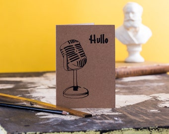 Vintage Microphone Card