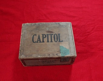 Capitol Wooden Cigar Box