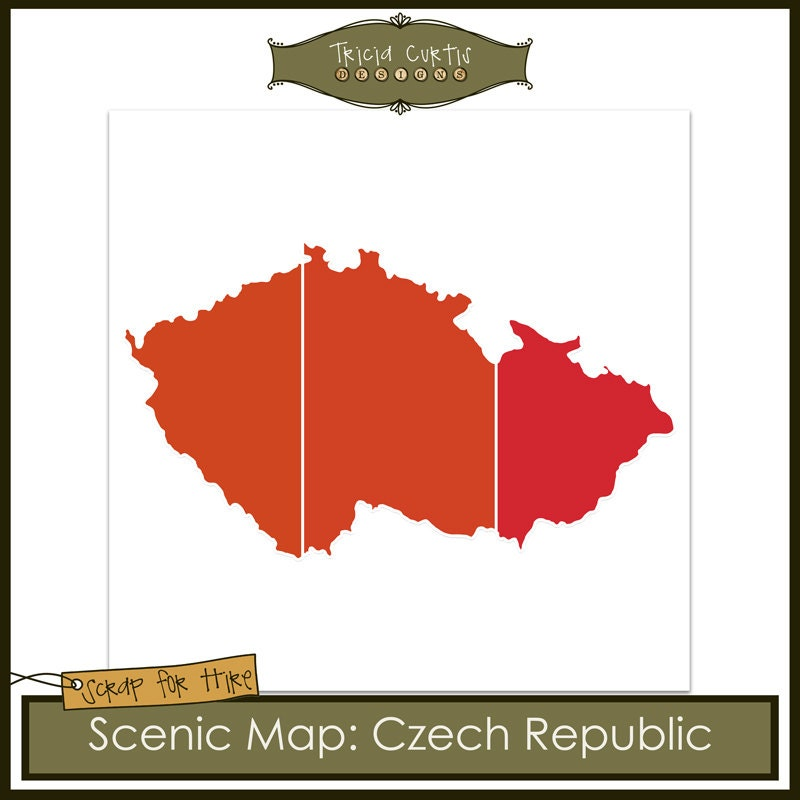Scenic map template czech republic from triciacurtis on for Designhotel elephant prague 1 czech republic