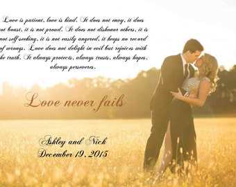 Personalized Wedding Canvas, Use Your Vows, Lyrics or a Poem Canvas Vows - 24x36