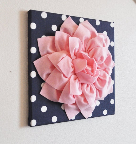 Home Decor Flower Wall Hanging Light Pink Dahlia on by