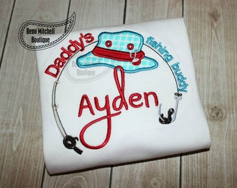 Daddy's fishing buddy applique