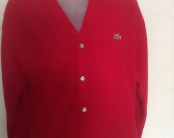 Vintage Izod Cardigan Sweater sz L