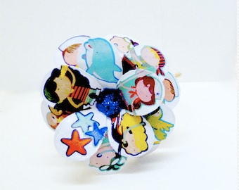 Little Sailors Daisy Paper Mache Headband