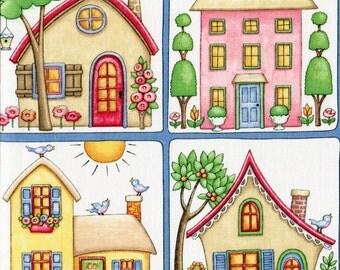 Cottages - Mary Engelbreit - Half Yard Plus