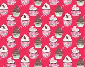 Christmas Cupcakes - Vintage Noel from Blend Fabrics - Full or Half Yard Holiday Cupcakes Red