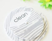 Woodgrain Clean Dirty Dishwasher Magnet - Sign Home Decor Entertaining Kitchen Foodie Gray Charcoal Elegant Stainless Steel Natural