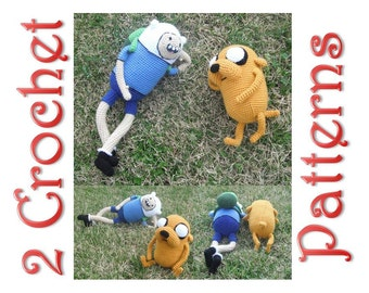 Jake and Finn 2 Crochet Patterns by Erin Scull