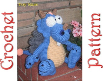 Snuggles the Dragon A Crochet Pattern by Erin Scull