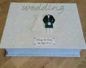 Personalised Scottish Bride and Groom Wedding Keepsake Box