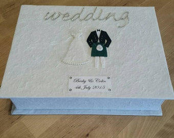 Personalised Scottish Bride and Groom Wedding Keepsake Box