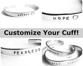 CUSTOMIZE Your Hand Stamped Cuff Bracelet - Personalize to Make it Yours