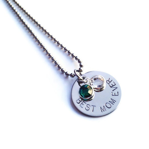 Personalized Birthstone Necklace for MOM - Great Customized Gift for Mother's Day!