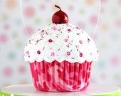 Pink Camouflage Mini Faux Cupcake Decoration #CUP231