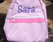 Personalized Backpack Embroidered Backpack with Child's Name or Monogrammed Knapsack for Your Toddler Backpack