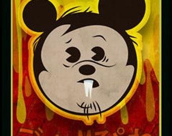 Mouseferatu - Kawaii Vampire Mouse 8x10 Print