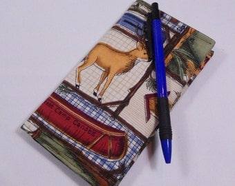 Northwoods Checkbook Cover,  Camping Checkbook, Womens Checkbook, Coupon Organizer, Duplicate Checkbook, Made in USA