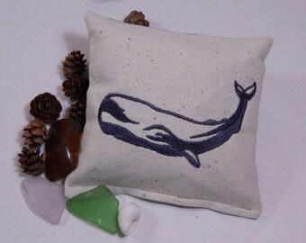 Whale Balsam Sachet, Nautical, Maine Balsam Fir, Made in Maine USA, Ocean Theme