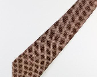 Ralph Lauren Tie. Silk Tie. Dress Tie. Burgundy Pattern Necktie. Vintage. Office Tie. GOGOVINTAGE. FREE SHIPPING