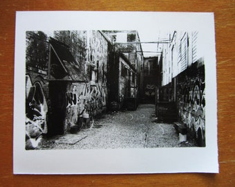 Graffiti Alley - Hand Printed Silver Gelatin Photograph.