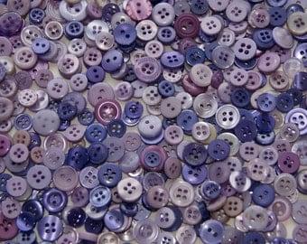 1000 Buttons, Small Purple Buttons, Purple Plum Fairy, Purple Splash, Sewing, Crafting, Wall art (1439 C )